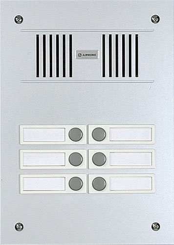 Aiphone Corporation VC-6M 6-Call Audio Entrance Station for VC Series Multi-Tenant Intercom,...