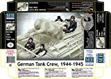 Master Box #35201 German Tank Crew 1944-1945 - World War II Era Series Figure Plastic Model Kit 1/35 Scale