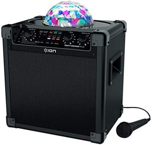 ION Audio Party Rocker Plus | Portable Bluetooth Party Speaker System & Karaoke Machine with Built-In Rechargeable Ba...