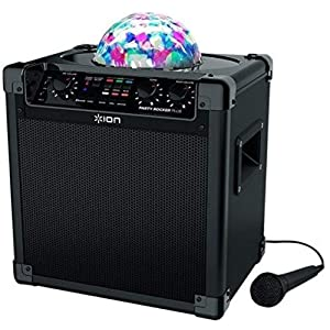 ION Audio Party Rocker Plus | Portable Bluetooth Party Speaker System & Karaoke Machine with Built-In Rechargeable…