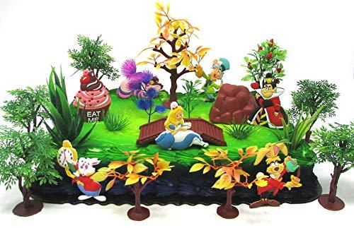 Disney Alice in Wonderland Birthday Cake Topper Set Featuring 5 Alice...