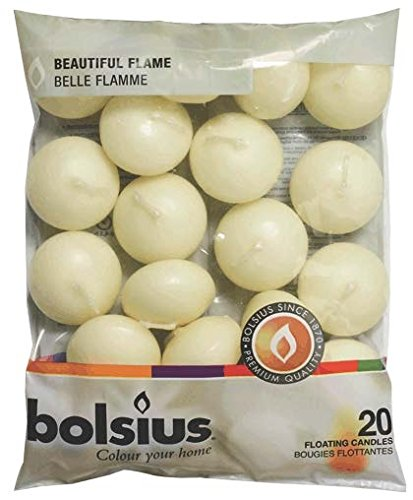 Bolsius Floating Candles Bag 20 Ivory