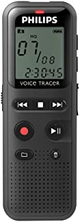 Philips VoiceTracer DVT1150 digitales Diktiergerät Audiorecorder Aufnahmegerät, 4GB, USB Anschluss