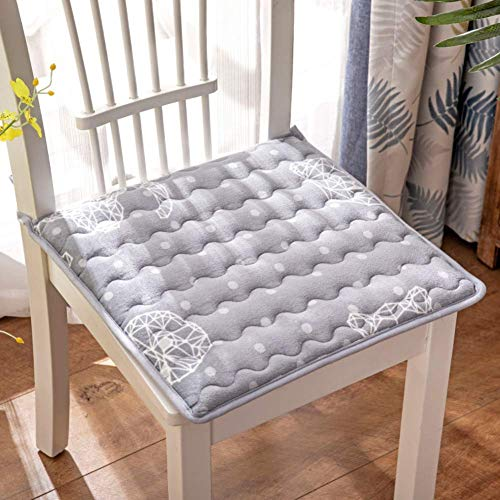 XHNXHN Cojines de terciopelo para silla de comedor con lazos, transpirables para silla, cojín de asiento para alimentos, decoración interior del hogar, cojines acolchados grises 50 x 50 cm