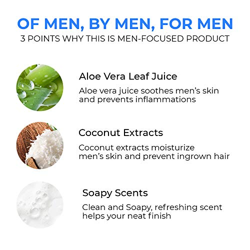 Boldnine 2 in 1 Face Wash for Men | Men's Shave Cream & Facial cleanser | Smooth Shaving Cream, Deep Face Cleanser with Natural Ingredients