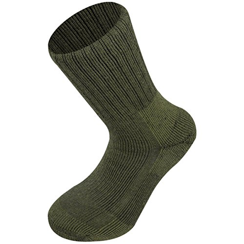 Highlander Mens Norwegian Army Quick Drying Stretch Natural Wool Socks