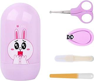 MyArmor 4in1 ベビー 爪切り ベビーネイルクリッパー 爪切りはさみ ベビー爪やす 赤ちゃん マニキュアツール 丸い頭はさみ 怪我防ぐ 安全 使いやすい ポータブル 携帯便利 (パープル)