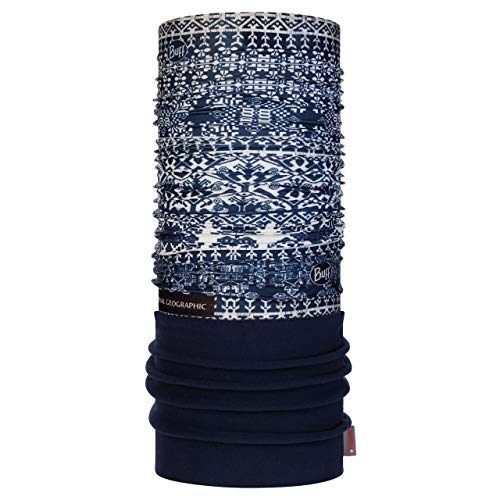 Buff Kurzeme Tour de cou polaire National Geographic Marron Bleu Foncé FR : Taille Unique (Taille Fabricant : Taille One sizeque)
