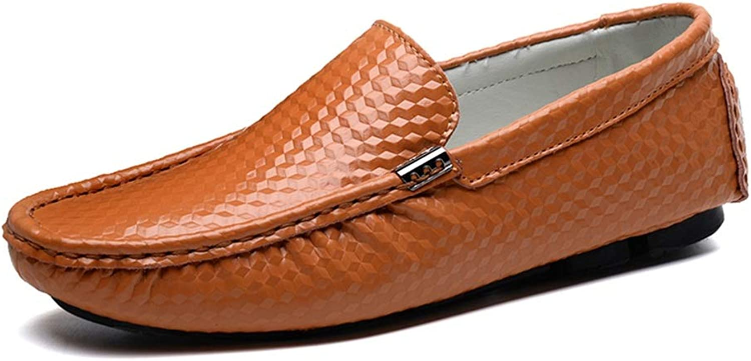 Leather Driving shoes Men's Penny shoes fashion classic casual comfort Driving Loafer Wear Resistance Rubber Sole Solid color Moccasins Lazy Driving shoes (color   Brown, Size   6.5 UK)