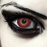 "Designlenses, Dos lentillas de color rojo para Halloween hombre-lobo disfraz lentes sin dioprtías/corregir + gratis caso de lente ""Red Werewolf'"
