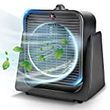 Air Circulator Fan - 2 in 1 Portable Quiet Air Circulating & Heating Modes Fan for All Year Around, Tip-Over & Overheated Protection, Personal Small Floor Office Home Whole Room, Black