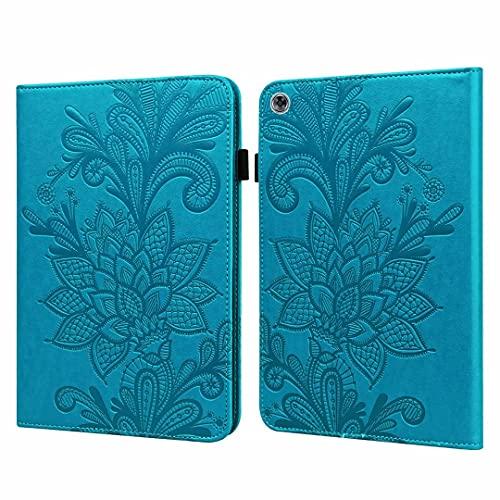 Funda tipo libro para Samsung Galaxy Tab A6 10.1 pulgadas (2016) T580/T585, delgada, plegable, de piel sintética, con función atril y función atril, color azul