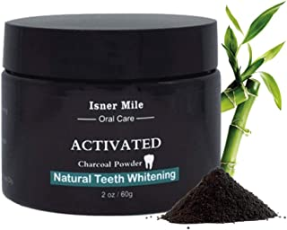 Activated Charcoal Teeth Whitening Powder - Remove Smoke Coffee Tooth Stains Cleaning, Natural and Health Bamboo Charcoal Whiten For Teeth & Gums