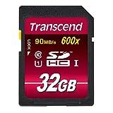 【Amazon.co.jp限定】Transcend SDHCカード 32GB Class10 UHS-I対応 (最大転送速度90MB/s) TS32GSDHC10U1E (FFP)