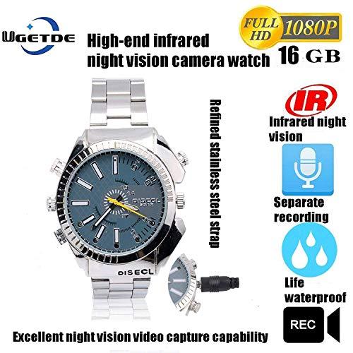Watch Video & Kamera 16GB Built-in Voice Recorder/Nachtsicht Spy Kameras Herren Armbanduhr HD 1080P Versteckte Kamera Wath DVR Kamera Multifunktions Smart List Uhr Wasserdicht Uhr IR Nachtsichtkamera