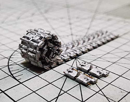 1/35 陸上自衛隊 10式戦車 プラモデル用 連結式金属キャタピラ 戦車用履帯 可動式 連結ピン付き