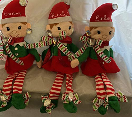 Christmas Personalized Elf! All Blinged Out & Ready To Go, Girl Plushy, Doll, Shiny N Glitzy Originals