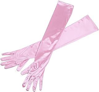 Baby Pink Long Satin Elegant Vintage Opera Party Gloves- Princess Pink