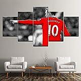 AREABP Wayne Rooney Fußballstar Poster Wohnzimmer