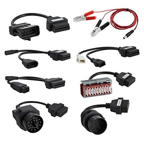 AUTOUTLET 8er Adapter Set, Universal Auto OBD2 OBD1 Diagnosegerät Diagnose Adapter Kabelsatz, Diagnoseadapterkabel für AutoCom Delphi CDP+ DS150Er
