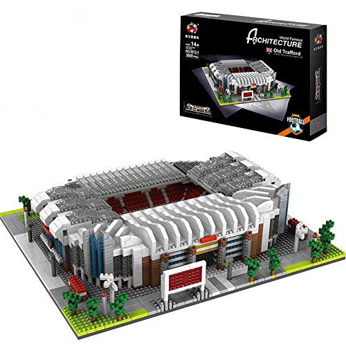 N\A 3D Jigsaw Puzzle Manchester United Old Trafford Stadium World Famous Football Stadium DIY Model, Children's Educational Toy for Manchester United Fans 3800 Blocks