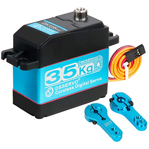 35KG Servo IP66 Waterproof High Torque Digital Servo for 1/10 1/8 RC Car RC Crawler Robot RC Boat 7.4V 35kg Coreless Digital Servo