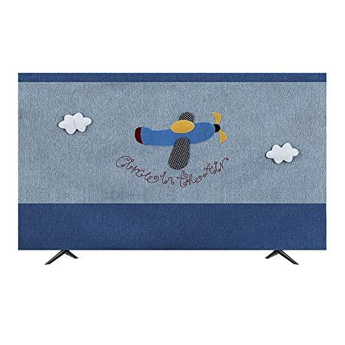 YMYP08 TV Cover, Katoen Linnen Home TV Beschermend Cover Scherm Stof Opknoping Cover LCD Gebogen Oppervlak 32-65in Cover Handdoek Stofhoes