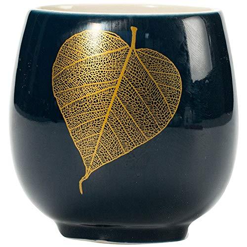 taza de porcelana Taza De Té De Cerámica Azul, Vajilla De Porcelana, Taza De Té, Taza De Té De Cerámica Pintada A Mano Creativa, Porcelana De Oficina En Casa