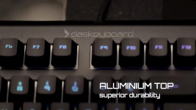 Das Keyboard X50Q Smart RGB Mechanical Keyboard for Work & Gaming - High Performance Soft Tactile Feedback - Gamma Zulu Switches - Pre Built Q Applets & Fully Programmable RGB - Full NKRO
