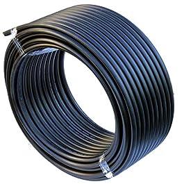 Tuyau PEHD Tuyau d'eau Conduite d'eau Tuyau en plastique Tuyau d'arrosage Tuyaux noir 20mm x 25Meter Schwarz