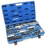 WilTec Coffret d'extracteurs d'injecteur CDI 40 pcs Kit 3 Marteau à Coulisse & Adaptateur Garage Dépannage