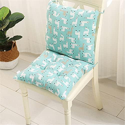 SWECOMZE1 Satz Stuhlkissen mit Rückenteil Sitz, Rückenkissen mit Bänder, Niedriglehner Auflage Polsterauflage Gartenstuhl (40 x 40 cm,Style X)