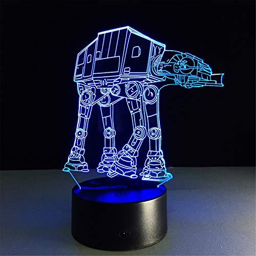 Lampes 3D,Planet Dog7couleurs Changement tactile/commutateur à distance Commutateur Lamp Lampes de décoration de bureau Anniversaire Présent Baby Light,câble USB et piles AA
