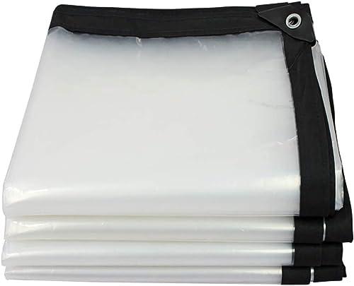 YINUO Transparent En Plastique Tissu Pvc Tissu Doux épaississement Housse De Prougeection Solaire Film Doux Balcon Pare-Brise Transparent Rideau De Pluie (Taille   4x10m)