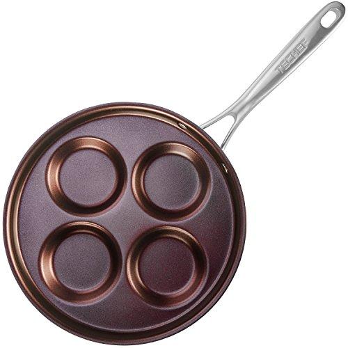 TECHEF - Eggcelente Pan, Swedish Pancake Pan, Plett Pan, Multi Egg Pan, Coated with New Teflon Select/Non-stick Coating (PFOA Free) (Purple)