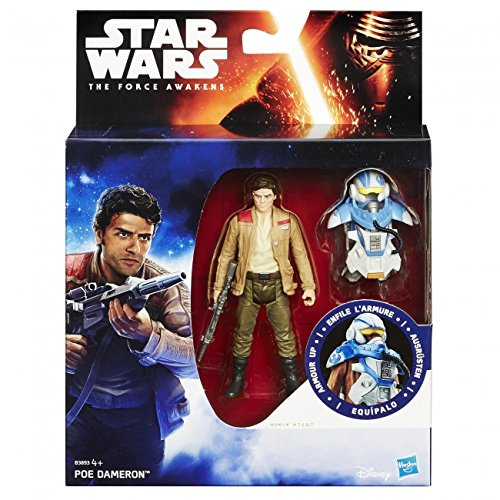 Disney Official Star Wars The Force Awakens 3.75' Inch Armed Up Figure (Poe Dameron) **New**