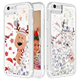 iPhone 6S Plus Case, Caka Flowing Liquid Floating Luxury Bling Glitter Sparkle Soft TPU Christmas Case for iPhone 6 Plus 6S Plus 7 Plus 8 Plus (5.5 inch) (Moose)
