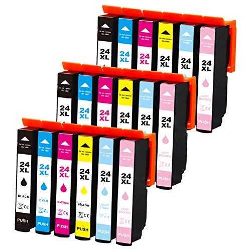 Jagute 24XL Compatibile Cartucce d'inchiostro Sostituzione per Epson 24 24XL T2431 con Epson Expression Photo XP-55 XP-960 XP-950 XP-860 XP-850 XP-760 XP-750
