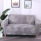 Patrón de geometría Funda de sofá Funda de sofá elástica para Sala de Estar Sofá de Esquina seccional Moderno Toalla Sillón Funda de sofá A14 1 Plaza