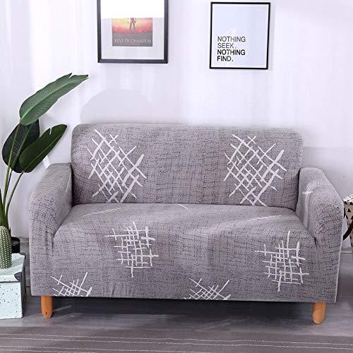 Funda de sofá a Cuadros Funda elástica Fundas de sofá para Sala de Estar Esquina sofá Toalla Funda de sofá Protector de Muebles A20 2 plazas