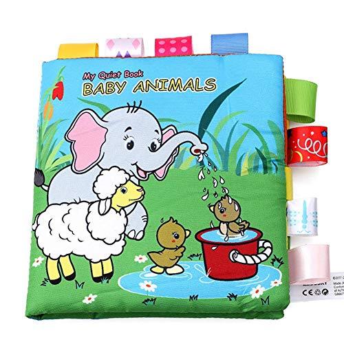 Bulary Animal Pattern Label Tuch Buch Babys Puzzle Spielzeug Eltern-Kind-Interaktion Säuglings-Frühlernbuch Spielzeug Reißfestes beißendes klingendes Papier