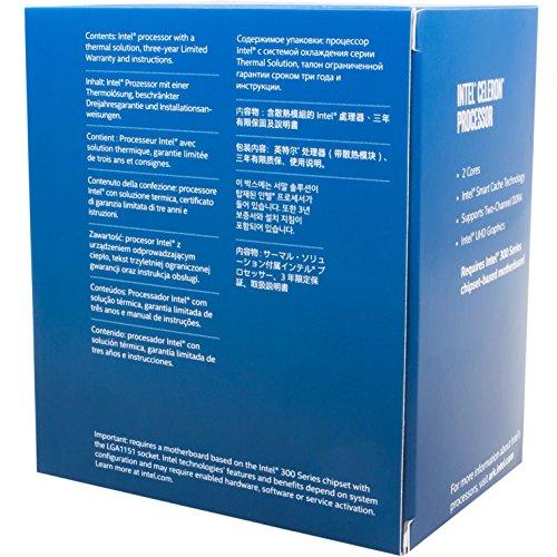 Intel Celeron BX80684G4920 Processore per Desktop PC, 2 Core 3.2GHz LGA1151 300 Series 54W, Argento
