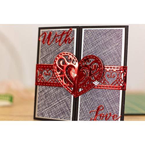 Pixie Stanssjabloon om zelf te maken van metaal voor het snijden van staal in hartvorm liefde gesp voor papier DIY scrapbook/fotokaarten stempelvormen