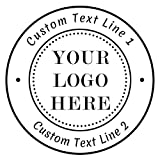 Sellos Personalizados Logo,Sellos Personalizable,1-5/8'Diámetro,Redondo Sellos de caucho para remite para empresa, oficinas,boda, fabricación de tarjetas