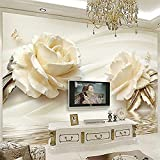 Champagne Rose Water Wave Reflexión Decoración de la pared Impresión de arte Póster Imagen Foto Impresión en HD par papel pintado pared dormitorio de estar sala de estar fondo No tejido-150cm×105cm