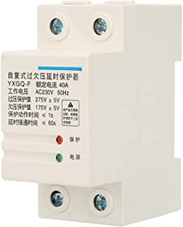 Automatic Relay Protector - 2P 40A Automatic Voltage Protector Relay Recovery Over & Under Delay Protection Relay Voltage Monitor Monitoring Relay