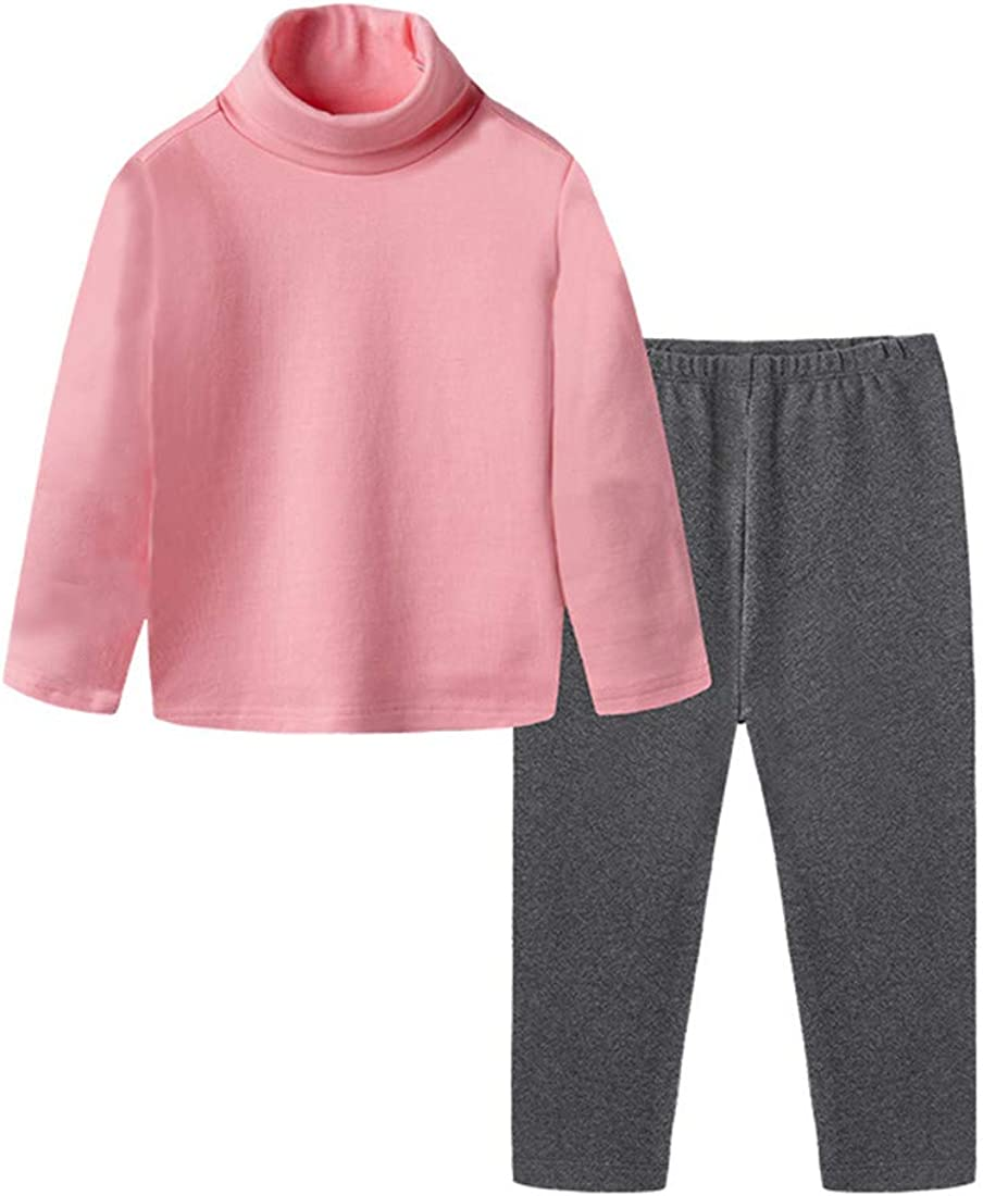 Boys Girls Thermal Underwear Set Long John, Warm Soft Breathable Cotton Base Layer