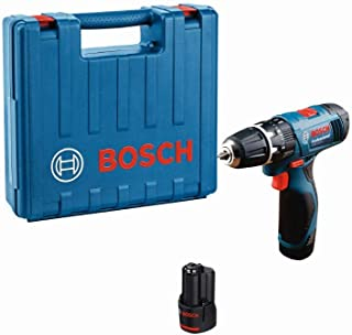Bosch Professional 0 601 9F3 070 GSB 1080-2-LI with 2 x 1.5 Ah Batteries, Charger and Carry Case, Blue, 7.5 cm32.3 cm29.4 cm