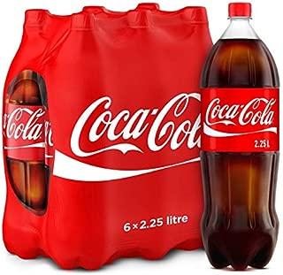 Coca-Cola Regular Carbonated Soft Drink, Pet Bottle -2.25 Litre (Pack of 6)