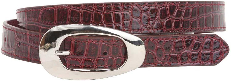 Ladies 7 8  Faux Patent Croco Print Non Leather Belt